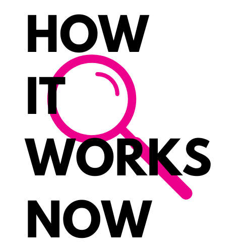 """How it works now"" logo"