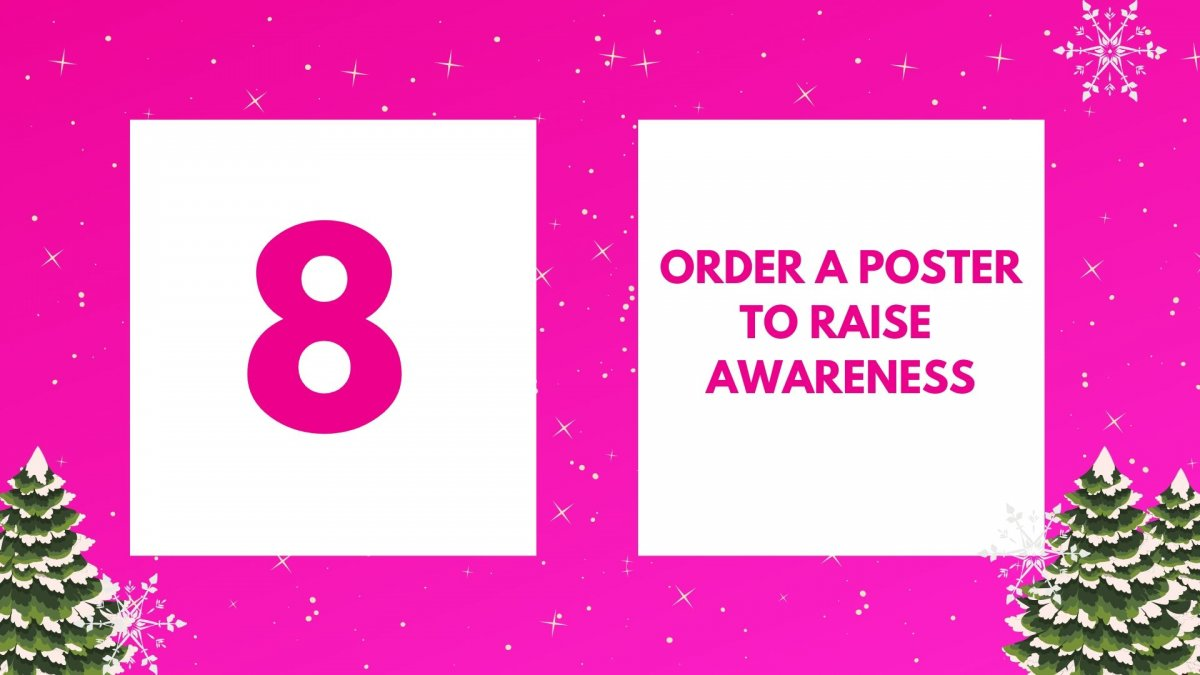 Order a poster to raise awareness