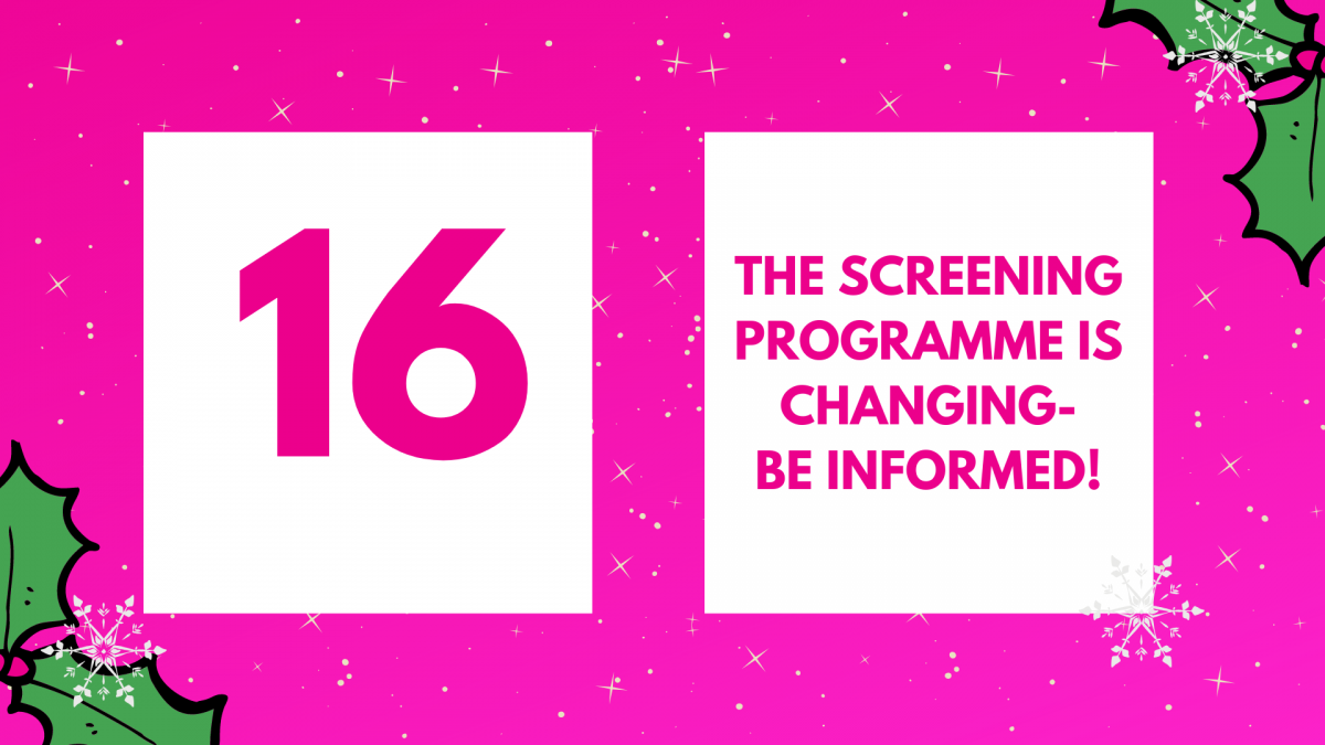 The screening programme is changing