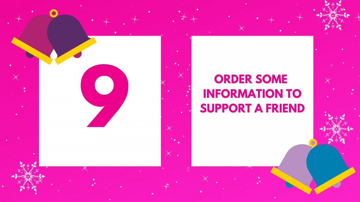 Order information to support a friend