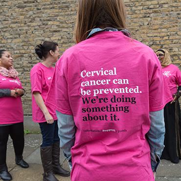 Jo's Cervical Cancer Trust Newsletter sign up form